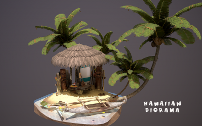 Hawaiian Diorama